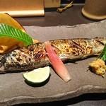 魚貝三昧 げん屋 - 新さんま塩焼