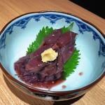 日本酒個室バル かぐら - ホタルイカの沖漬け。旨い!