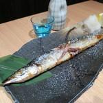 日本酒個室バル かぐら - 秋刀魚の塩焼き