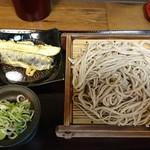蕎麦 冷麦 嵯峨谷 - もりそば&ナス天