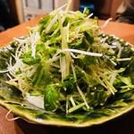 とり吉 - 葱と豆苗のおつまみ(380円)