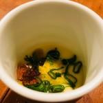 とり吉 - お通しの冷製茶碗蒸し!