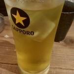 フレンチおでんとガブ飲みワイン ビストロバンバン - 緑茶ハイ390円