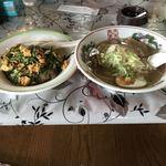 中国料理 多喜屋 - 塩ラーメン+ニラ玉子飯
