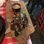 肉寿司 薪焼き キッチンひろ - 10種類の薪焼き野菜のバーニャカウダ