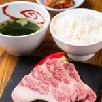 【おすすめ】神戸牛カルビランチ 1,380円(税抜)