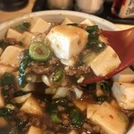 ひできよラーメン - 花椒を使っているようです、ピリ辛の美味しい麻婆豆腐です(2018.9.24)