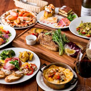 ボリューム満点のコース料理はパーティーに大人気!