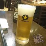北海道バル ラベンダーキッチン - 生ビール 380円