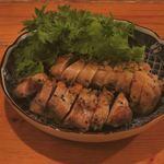 いざかや メネフネ - 「鶏肉の葉唐みそ焼」650円〔2017-12〕