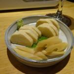 深川日和 - 長芋とセロリのたまり着け