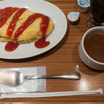 陽だまり食堂 - 陽だまり風オムライス:580円+アイスコーヒー:180円/2018年9月