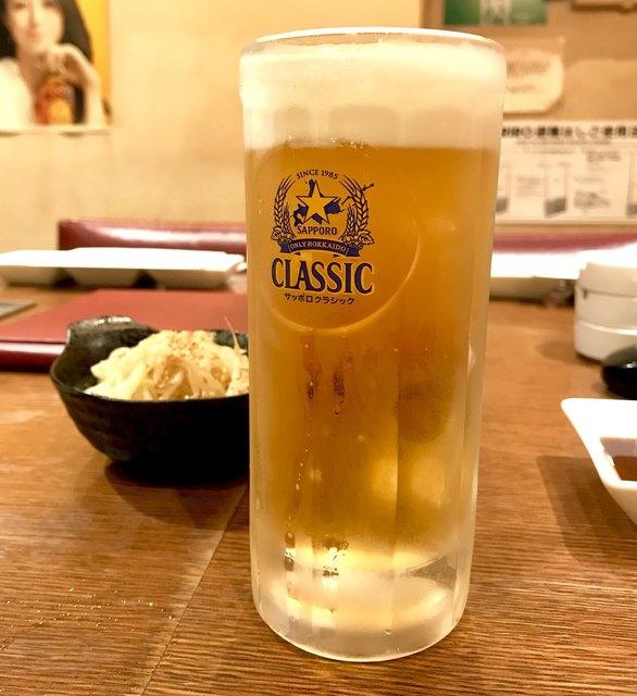 ジンギスカン ひげのうし 本店 - *サッポロビールクラシック(生)(¥560)