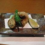 海の宝 - 揚げ物(尼鯛、自家製鱧のかまぼこ天婦羅)