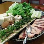 海の宝 - 鴨と鴨のつみれ鍋