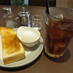 スキマカフェ - モーニングセットA 450円 (2018.8)