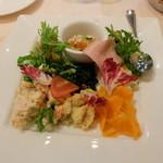 ジリオ - 前菜つきパスタコースA(1490円)の前菜盛り合わせ