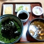 東家 - 料理写真:東家@春採分店 鳥ざる汁付(850円)