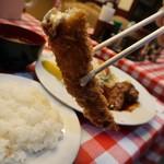 洋食 大吉 - 海老フライ二本ハンバーグ1680円