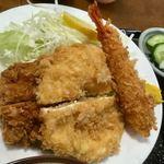 ほづみとんかつ店 - ミックスカツ定食