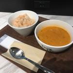 トゥルー スープ - 料理写真:スープセット トマトライス、トマト&ペッパー・ビスク