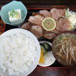 93315838 - 【ランチ】 焼豚定食 小中華(ラーメン) \850