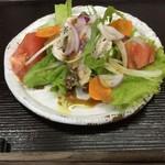 物味遊山 - 地鶏と野菜のサラダ