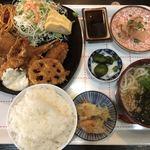入船 - 海老フライ&チキンカツ定食♪ 1.100円