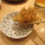 天ぷらめし 金子半之助 - かき揚げを塩で