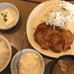 やよい軒 - 料理写真:☆チキン南蛮定食¥740(税込)…< ご飯・味噌汁・タルタルソース・豆腐 >付き。ご飯は お替り自由!