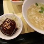 chuugokusaife-vu - サービス下さった肉団子の黒酢あんかけ、溶き玉子や野菜入りのスープはじんわり優しい旨味