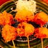 アグーとんかつ コション - 料理写真:センベロ「かつベロ」のフード「野菜の豚バラ巻串 おまかせ3本」