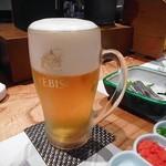熊襲亭 - 生ビール