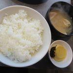 焼蛤 浜茶屋 向島 - ライス[味噌汁付き](2018/09/23撮影)