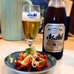 茶゛ 紅葉蘭 - 料理写真:マヨキムチとBeer