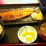 桃源郷 - サバ焼定食+じゃこご飯