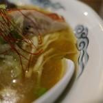らぁめん 欽山製麺所 - スープアップ