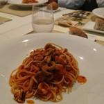 セグレイト - オリーブとヤリイカとアンチョビのトマトパスタ