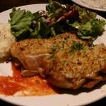 93346374 - 鶏モモ肉の香草パン粉焼き 850円
