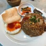 シンガポール海南鶏飯 - ナシゴレンセット(980円)
