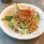 シンガポール海南鶏飯 - サラダ