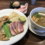 麺道 麒麟児 - 「特製 鴨と松茸のつけそば@1,300円」大盛り+100円