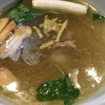 麺道 麒麟児 - 鴨と松茸のつけそばのつけ汁