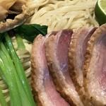 麺道 麒麟児 - 鴨と松茸のつけそば アップ