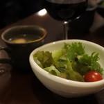 カフェ オフツェ - ランチのセットのサラダとスープ