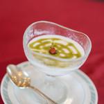 ヌーベルシノワ Ishibashi - 甜品(あまきもの)ゝ抹茶(まつちや)杏仁豆腐(きやうにんどうふ)