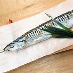 秋刀魚の岩塩焼き