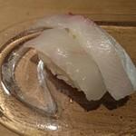 鮨庵さいとう - 料理写真:ヒラメ、カンパチ