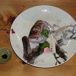 ふじ栄 - 鯛のお頭のちり蒸し