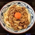 丸亀製麺 - 月見牛すき釜玉